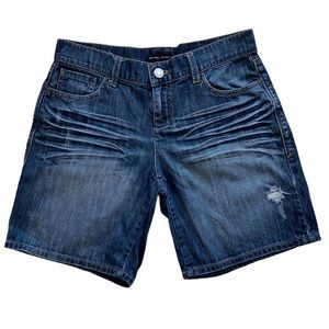 New York & Company Distressed Whiskered Jean Short